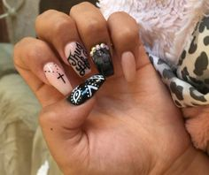 Luv my daughter's nails Tupac Thug Life...