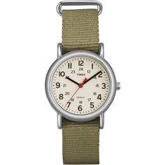 Timex Women's 'Weekender' Olive Slip-Thru Nylon Strap Watch $28