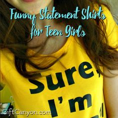 Top Picks: Funny Statement Shirts for Teen Girls