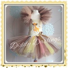 Lion King Tutu Dress. Simba Tutu Dress. Inspired by DiddyDarlings
