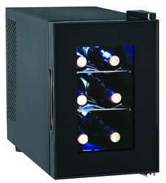 6-Bottle Wine Cooler, Glass Door >>> This is an Amazon Affiliate link. Read more reviews of the product by visiting the link on the image.