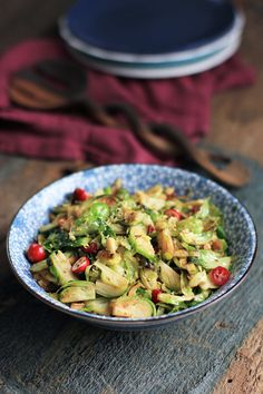 Maple Cranberry Brussels Sprouts #aip