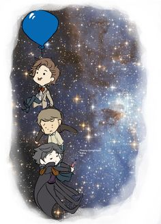 "Adorable Wholock.  ""Floating through space.  Boring. SH"""