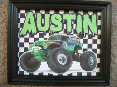 Monster Jam Room Decor My Boys Pinterest More Monster Jam Room Decor A
