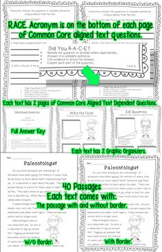 Spread over 300 pages you will find 40 Informational Text Passages for Second Grade. Use for Close Reading, Assessment of Common Core Standards, or as 40 weeks of Common Core aligned homework. What will you find for each passage? 1 text with border 1 text without border (Use this for Close Reading procedures) 2 RI.1 Graphic Organizers {Asking Questions & Stating Facts} 2 pages with Common Core Aligned Text Dependent Questions and Full Answer Key   ri.1 ri.2 ri.3 ri.4 ri.5 ri.6 ri.7 ri.8