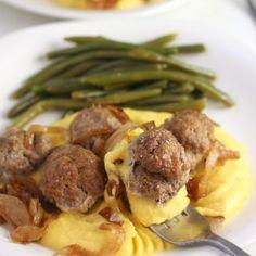 Rosemary Squash Meatballs with Squash Puree