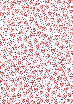 """Déluge de coeurs"", pattern by Minakani for Impression Originale #impressionoriginale #design #theperfectgift #patterns #wrappingpaper #paperart #ribbons #largecreamwhitegrosgrainribbon #bluethreadribbon #madeinFrance #sustainable #sharethelove #creatememories #minakani"