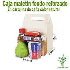 Caja en cartulina de caña de azúcar, ecológicas y biodegradables, de bajo impacto ambiental. Cartulina de caña... ...bosques protegidos Biodegradable, Recycling, Lunch Box, Packaging, Products, Lunches, Forests, Bento Box, Repurpose