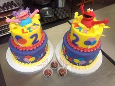 Elmo from Sesame Street and Abby Cadabby Cake