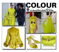 """""""Color Inspiration: Chartreuse"""" by mimamsterdam ❤ liked on Polyvore featuring Andrew Gn, Stephane Rolland and Jimmy Choo"""