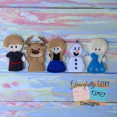 Hey, I found this really awesome Etsy listing at https://www.etsy.com/listing/188990338/frozen-finger-puppet-set-embroidery