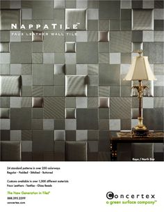 Interior Design Magazine Print Ad    This Would Be Great For An Acoustic  Wall