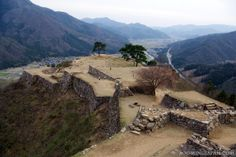 """Takeda Castle in Hyogo Prefecture (Kansai) also known as """"Machu Picchu of Japan"""" or """"The Castle in the Sky"""""""