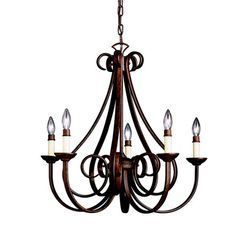 Kichler Dover 5 Light Candle Style Chandelier