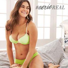 アメリカンイーグルの姉妹ブランドでもある下着ブランド「Aerie (エアリー)」が、今シーズンから「デジタル加工を施していない」丸みのある自然な女性の身体を広告…