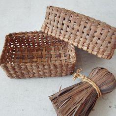 Wild grapevine baskets