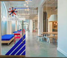 Evoke International Design has developed the new offices for THNK School of Creative Leadership in Vancouver. THNK was established in Amsterdam in 2010 Visual Merchandising, Vancouver, Leadership Programs, Canada, Branding, Co Working, Design Blog, Environmental Graphics, Design Furniture