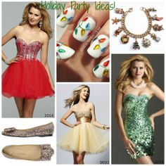 Some great ideas for the Mistletoe Ball. Holiday Formal Dresses, Short Dresses, Prom Dresses, Mistletoe, Sequins, Christmas, Ideas, Fashion, Short Gowns