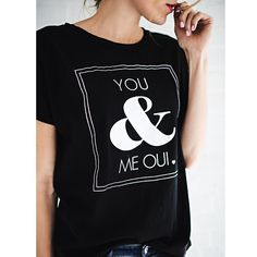 You & Me OUI Tee by: ILY COUTURE