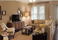 Having small living room can be one of all your problem about decoration home. To solve that, you will create the illusion of a larger space and painting your small living room with bright colors c… Living Room Decor Cozy, Living Room Furniture Layout, Small Living Rooms, Living Room Designs, Comfortable Living Rooms, Small Apartment Decorating, Apartment Living, Cozy Apartment, Apartment Ideas