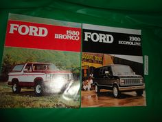 2 Ford Catalogs 1980 Econoline and 1980 Bronco find me at www.dandeepop.com