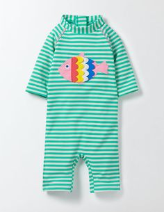 Fluttery Fish Surf Suit 71566 Rash Vests & Surf Suits at Boden Baby Girl Swimwear, Baby Wish List, Baby Girl Fashion, Rash Guard, Swimsuits, Surf, Fish, Waterfall, Surfing