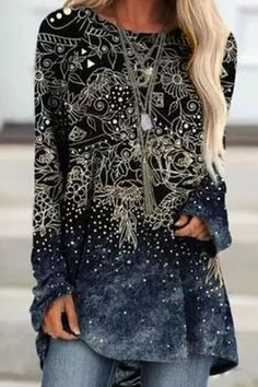 INS8 Online Shopping Clothes, Online Clothes, Women's Clothes, Knee Length Dresses, Casual Fall, Types Of Sleeves, Blue Dresses, Fashion Outfits, Long Sleeve