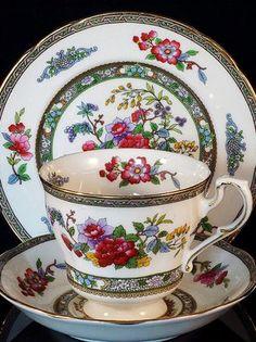 Vintage Paragon English tea trio