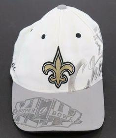 bf9fc3eb2ab New Orleans Saints NFL Reebok Super Bowl XLIV Champions Cap Hat  Reebok   NewOrleansSaints