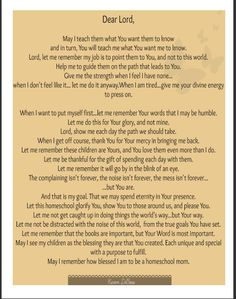 A Homeschool Mother's Prayer- FREE Printable | Bible Based Homeschooling