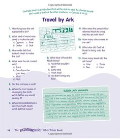 Noahs Ark The Everything Kids Bible Trivia Book Stump Your Friends And Family With