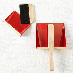 Dustpan + Brush Set - Red #westelm