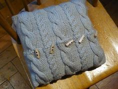 Knit Cable Pillow Pattern pattern by AOK Corral Craft and Gift Bazaar