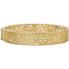 Yossi Harari Champagne Diamond Lace Cuff ($7,190) ❤ liked on Polyvore featuring jewelry, bracelets, champagne jewelry, cuff bangle, 18k jewelry, 18 karat gold jewelry and yossi harari jewelry