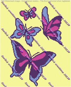Butterflies Graph by KarlasCreationsGraph on Etsy