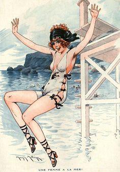 Illustration by Maurice Milliere For La Vie Parisienne 1921