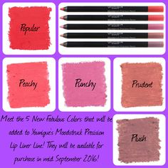 Meet the 5 New Colors of Younique's Moodstruck Precision Lipliner! Goes on so…