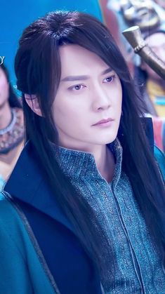 Ice Fantasy Kdrama, Ver Drama, Cute Asian Guys, Chinese Movies, Guy Pictures, Asian Actors, Asian Men, Fantasy Characters, Big Hair