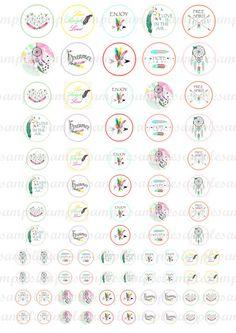 Digital Kreise - digitale Bilder Cabochon Vorlage für Anhänger - Cabochon Bilder - Cabochon Vorlagen, digital Rund Rupfe, Federn, markiert Artikelbeschreibung: 6 Größe digitale Kreise (30, 25, 20,...
