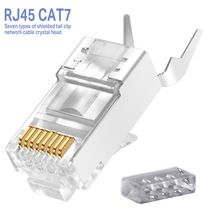 Rj45 Network Cable Connector Ethernet Cable Plug Cat6a Cat7 Rj45 Plug Shield Ftp 8p8c Network Crimp Connector Cat5 Modu In 2020 Cable Plug Ethernet Cable Network Cable