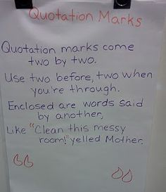 cute way to remind students how to use quotation marks