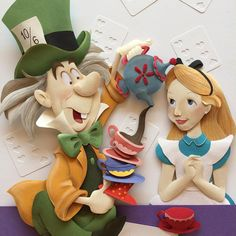 Alice in Wonderland paper sculpture by Karin Arruda