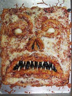 Una pizza de miedo.