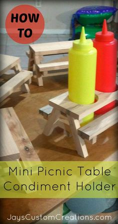 Mini picnic table coolness!! Easy DIY project! #Easywoodworkingprojects