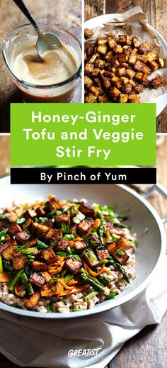 2. Honey Ginger and Tofu Veggie Stir-Fry #greatist http://greatist.com/eat/ginger-recipes-that-will-warm-you-up