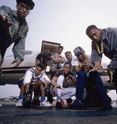 "The Juice Crew, aka The Juice Crew All-Stars, American Hip-Hop collective from Queensbridge, incl. MC Shan, Big Daddy Kane, Kool G Rap, Biz Markie, Mr. Magic, Masta Ace, Marly Marl, Roxanne Shanté, Craig G & others. The crew produced many answer records & beefs - primarily w/ Kool DJ Red Alert & the South Bronx's Boogie Down Productions (BDP) - as well as the posse cut, The Symphony. Their beef w/ BDP, aka ""The Bridge Wars,"" would result in Hip-Hop classics from both sides. Photo…"