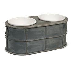 Farmhouse Pet Bowl Stand