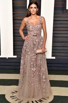 Oscars 2016: Nina Dobrev in Elie Saab