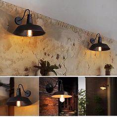 Retro Vintage Industrial Wandleuchte Wandlampe Deckenlampe Wall Light Garten