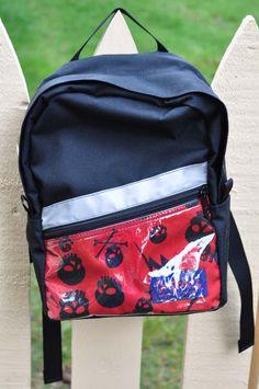 Toddler Backpack  black skulls by bratpacks on Etsy, $35.00